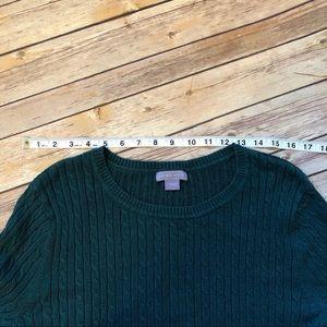 Laura Scott Sweaters - Laura Scott Dark Green knitted sweater